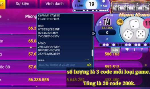 Hình ảnh code gamvip1111 in Tải gamvip r88 cho iphone, android, pc - R88vin apk / ios bản mới