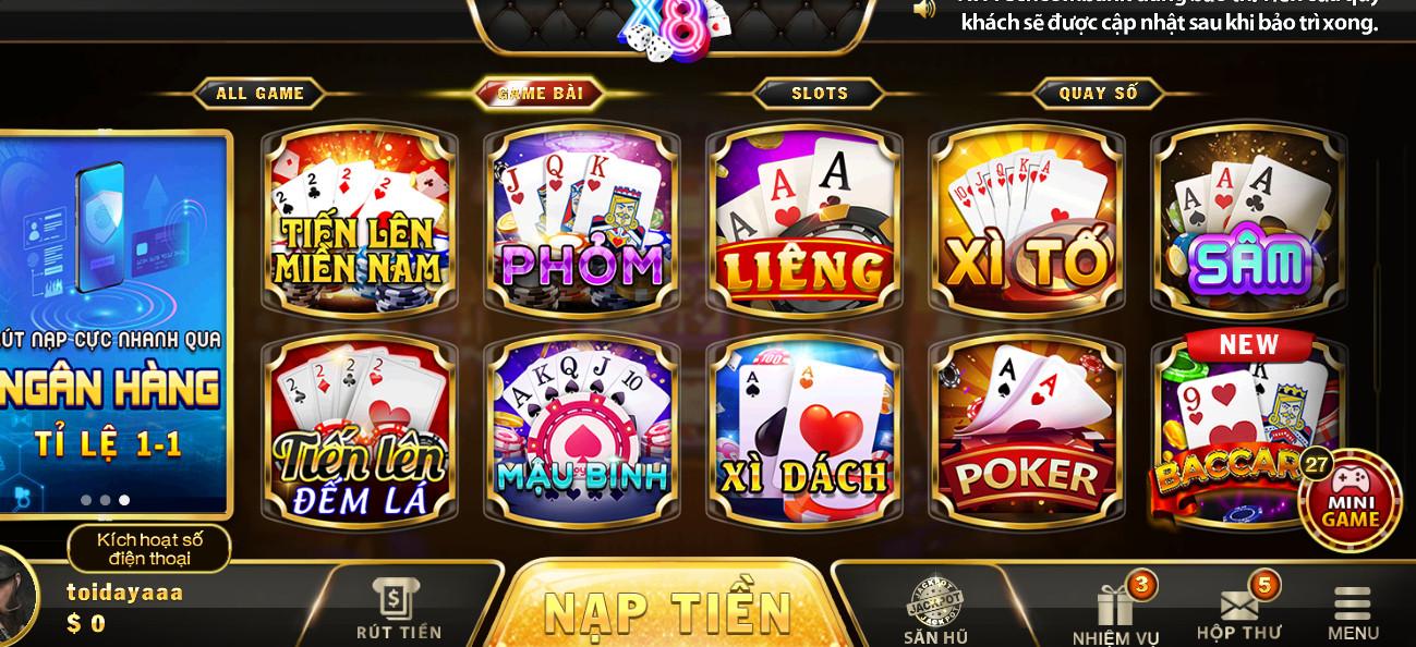 Hình ảnh x8 club pc in Tải x8vn.com apk / ios / pc - Đánh bài nổ hũ x8club bản mới